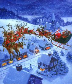 Santa Claus and Flying Raindeer.jpg -|- Last modified: 2009-12-05 18 ...