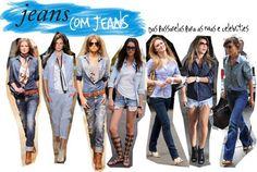O visual jeans total é superfácil: quanto maior o contraste das lavagens das peças, melhor. | 42 segredos de estilo que fazem toda a diferença no look