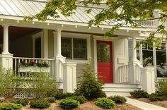 I love a red door - had one on my last house - pretty with gray, black, white, tans, some browns
