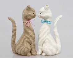 Cat Princess Amigurumi Pattern Realistic Cat Crochet Pattern home decor pattern crochet sculpture eco art wedding decoration toy Handarbeit