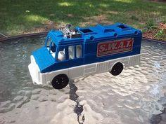 SWAT Van Plastic Car Toy Vehicle Strombecker Made In USA Vintage 1970s #Strombecker