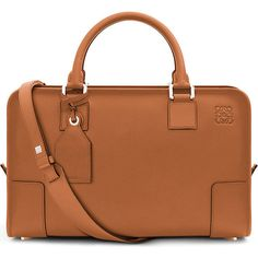 Loewe Amazona leather tote bag ($1,735) ❤ liked on Polyvore featuring bags, handbags, tote bags, tote purses, pocket tote, brown tote bags, embossed leather tote and brown leather purse