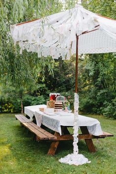 Take The Canvas Cover Off Of A Patio Umbrella, Then Sew Together 3 Pieces  Of Lace Yardage (look For Lace Tablecloths To Use) And Trim With A Lace Ru2026