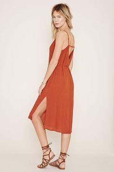 Belted Cutout Cami Dress