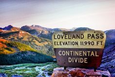 Loveland Pass Continental Divide Loveland pass(ski area) and the city of Loveland are two different places .