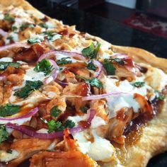 CPK's bbq chicken pizza.... NOMMM