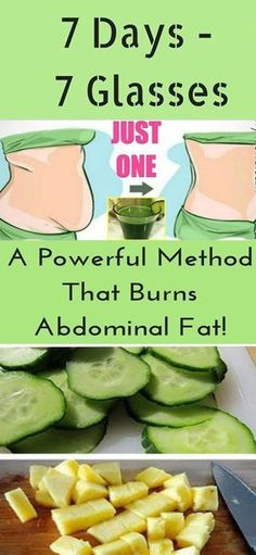 7 Days – 7 Glasses: A Powerful Method That Burns Abdominal Fat! Everyone has some belly fat, even people who have flat abs. That's normal. But too much belly fat can affect your health in a way tha…