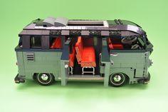 vw splitscreen barndoor 23 window samba deluxe by Volkswagen, Vw T1, Lego Van, Lego Camper, Lego Structures, Lego Technic, Lego Minifigure, Lego Furniture, Lego Truck
