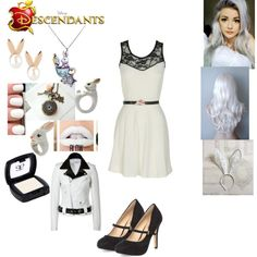 Winter Rabbit - Daughter of the White Rabbie by maxinehearts on Polyvore featuring Off-White, Each Other, Dorothy Perkins, Aamaya by priyanka, Punky Pins, Nach, By Emily, disney, OC and Descendants