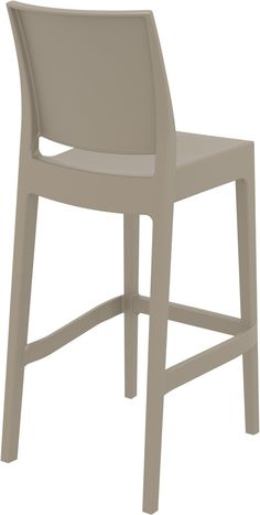 Maya Kitchen Stool - TIS100 | Chair Crazy | ZAR 1,170 | Black, Grey, Taupe or White | width: 46 height: 98 depth: 51 seat height: 65 Bar Stool Cushions, Rattan Bar Stools, Stool Chair, Kitchen Designs Photos, Kitchen Pictures, Kitchen Stools, Counter Stools, Upholstered Desk Chair, Chair Pictures
