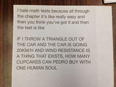 anonymous note left on math teachers door via /r/funny...