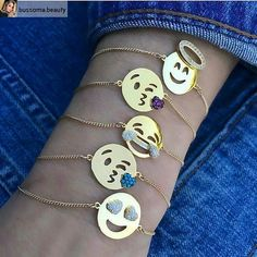 emoji bracelets Tap link now to find the products you deserve. We believe hugely that everyone should aspire to look their best. Emoji Jewelry, Cute Jewelry, Jewelry Gifts, Jewelry Accessories, Pink Jewelry, Jewlery, Gold Jewellery, Trendy Accessories, Rakhi Design