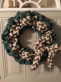 blue burlap with chevron by TriciaMaeHangtime on Etsy