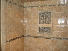 deocrative tile showers | Shower Floor Tile, Shower Wall Tile and Master Bath Tile Designs