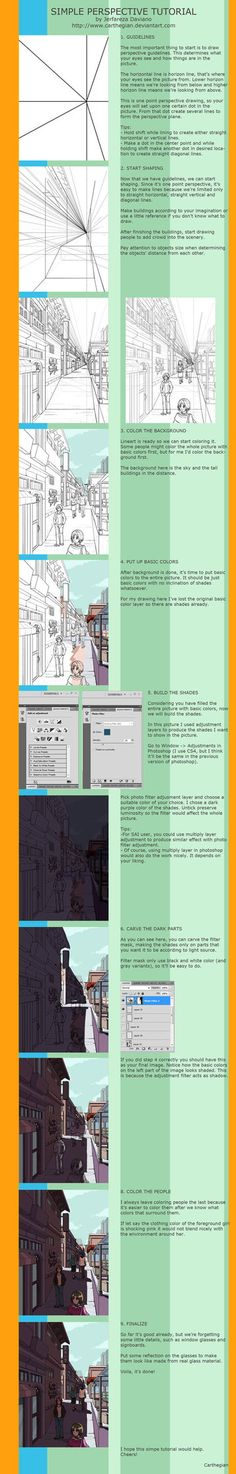 Simple Perspective Tutorial by Carthegian on deviantART