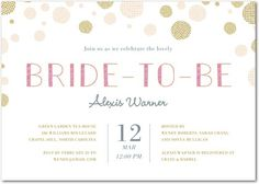 Dot to Be - Bridal Shower Invitations - Good on Paper - Fresco Cream - Pink : Front