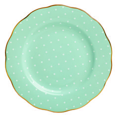 polka dot dinner plates. lovely.