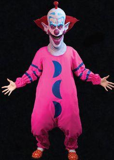 Killer Klowns Slim the Scary Circus Clown Halloween Costume & Latex Full Mask #TrickorTreatStudios