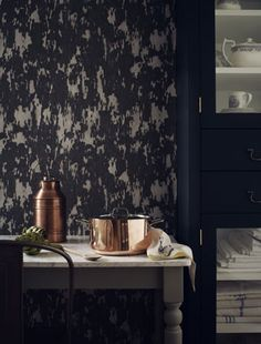 Kitchen wallpaper feature wall