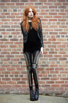 @zukoh studded leggings