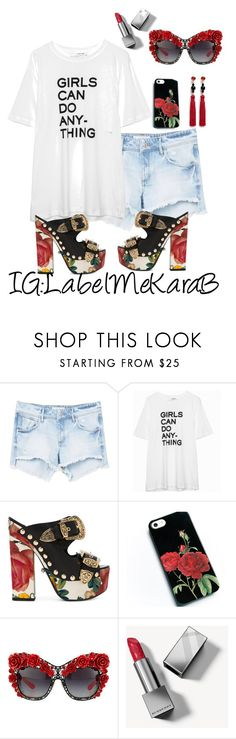 """""""KB004"""" by bsharccara on Polyvore featuring MANGO, Zadig & Voltaire, FAUSTO PUGLISI, Dolce&Gabbana, Burberry and Kenneth Jay Lane"""