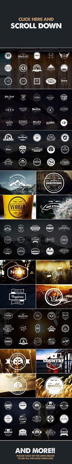 MEGA BUNDLE 326 Vintage Logos Badges by DesignDistrict