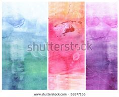 Beautiful watercolor background in soft green, pink and purple- Great for textures and backgrounds for your projects!