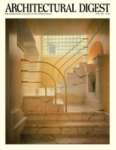 Architectural Digest Magazine - Apr 1983 Interesting lines, beautiful marble floors and staircases. Interior Architecture, Interior And Exterior, Interior Design, Picture Wall, Photo Wall, Vintage Interiors, Woodland Nursery Decor, Architectural Digest, My New Room