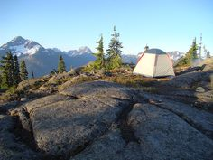 Camping on the Crest Mountain Trail in Strathcona Park is an experience that all hikers should do at least once in the great BC outdoors. Death Valley Camping, Mountain Trails, Vancouver Island, Outdoor Gear, Tent, Wanderlust, Park, Software, Tentsile Tent
