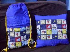 Kit bolsa e almofada infantil