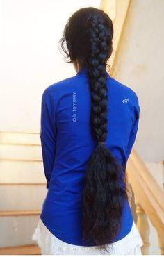Beautiful Girl Drawing, Beautiful Long Hair, Black Braids, Braids For Long Hair, Ponytail Updo, Braid Hair, Indian Long Hair Braid, Playing With Hair, Super Long Hair