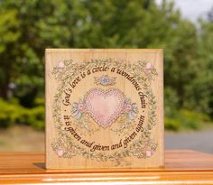 God's Love Is A Circle Wood Mounted Rubber Stamp Happen Linda Grayson #70029 735340700296 | eBay