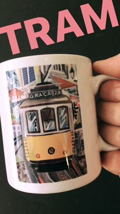 // NEW MUG COLLECTION // `TRAM 28 LISBON` // limited edition from the original artwork by ©philippe patricio // all rights reserved // Torn Paper, Collage Artists, Shape And Form, Root Beer, Lisbon, Original Artwork, Portugal, Art Pieces, Hand Painted