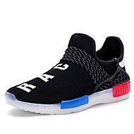 Masculino-Tênis-Conforto Light Up Shoes-Rasteiro-Preto Branco-Tule-Casual Para Esporte
