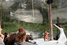 oerol festival's loud shadows joint project uses the dutch landscape as a natural stage