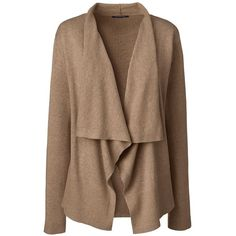 River Island Light brown chenille longline cardigan ($72) ❤ liked ...