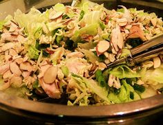 Jo's Recipes: Chinese Chicken Salad with Ramen Noodles! I love this recipe but I put the noodles and almonds in the oven and broil them until their brown and crunchy.