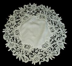 The Gatherings Antique Vintage -  Victorian 1900s Branscombe Tape Lace Table Centerpiece Doily, $85.00 (http://store.the-gatherings-antique-vintage.net/victorian-1900s-branscombe-tape-lace-table-centerpiece-doily/)