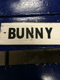 Bunny sign Hickory Hills, Bunny, Signs, Home Decor, Decoration Home, Room Decor, Hare, Shop Signs, Sign