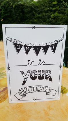 diy birthday cards for boyfriend Smile its your birthday Gift ideas # ideas # Creative Birthday Cards, Handmade Birthday Cards, Happy Birthday Cards, It's Your Birthday, Birthday Gifts, Handmade Cards, Birthday Uncle, Handmade Journals, 21st Birthday