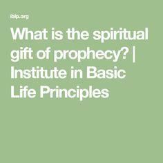 8 signs you may have the spiritual gift of discernment spiritual what is the spiritual gift of prophecy institute in basic life principles negle Gallery