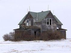 Just something sad about old abandon homes sitting alone...