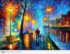 An amazing oil painting by Leonid Afremov