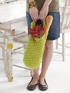 Looking for crocheting project inspiration? Check out Flea Market Bag by member Linda Permann. - via @Craftsy