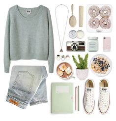 """""""untitled I"""" by captainsolo ❤ liked on Polyvore featuring Acne Studios, Topshop, Jack Wills, Denham, Converse, Lux-Art Silks, Laura Mercier, Zara, women's clothing and women"""
