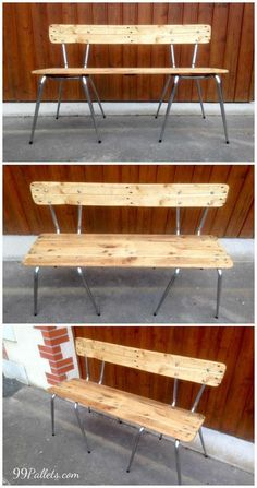 Old Chairs Turn into Pallets Bench | 99 Pallets #OldChair #ChairBench