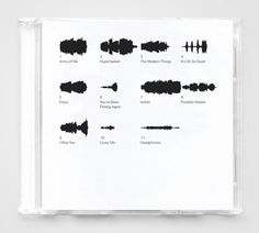 """Compact disc labeling concept. Each waveform accurately depicts a complete song in a 1-inch square."""