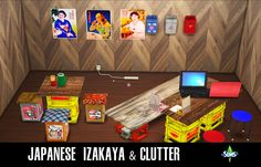 Sims 4 CC's - The Best: Japanese Izakaya & Clutter by Kimu412