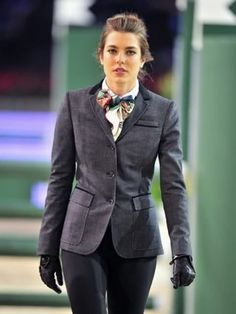 Charlotte Casiraghi. A modern riding outfit.