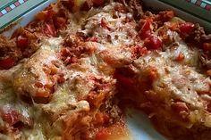 Lasagne mit Sucuk (Türkische Knoblauchwurst)
